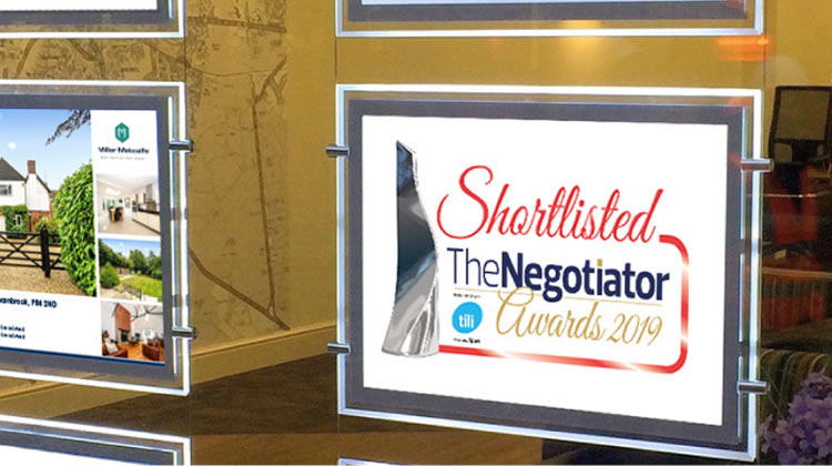 Miller Metcalfe shortlisted in the Top 10 for The Negotiator Awards 2019