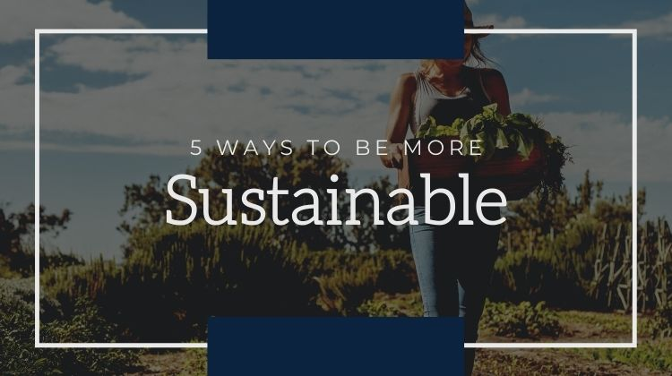 5 ways to be more sustainable