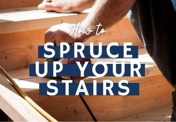 How To: A Quick And Easy Way To Spruce Up Your Stairs