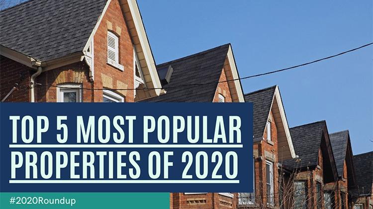 top 5 Most popular properties of 2020